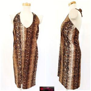 KAREN ZAMBOS Animal Print Loose Fit Dress BN